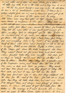 Letter from World War One describing the journey from Australia to Egypt, 1914