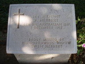 Soldier's Gravestone (photo: Dr. Spittel)