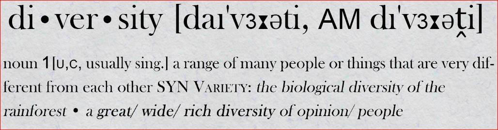 Diversity (photo: Julian von Mach)