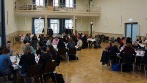 """Alle sieben Thementische des WeberWorldcafés """"Diversity - Limits and Opportunities"""""""